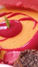 dessert fraise mangue pavot